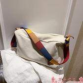 帆布包帆布包包2021新款潮夏天大包包斜背包女包大容量側背韓版時尚女包 芊墨左岸