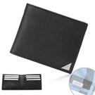 Calvin Klein經典LOGO鐵牌RFID防盜多卡短夾(黑色/送帕巾)103093