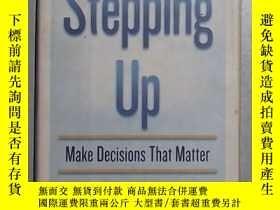 二手書博民逛書店英文原版罕見Stepping Up: Make Decision