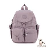 B.S.D.S冰山袋鼠 - 時光旅人 - 知性加大款附插袋後背包 - 淡紫色【B0015-PR】