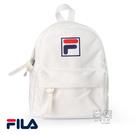 Fila 白色 LOGO 輕量 背包 雙肩 後背包NO.H2638【新竹皇家 BPT-9016-WT】