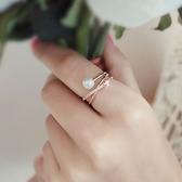 戒指 925純銀 鑲鑽-個性纏繞生日情人節禮物女開口戒3色73dv30[時尚巴黎]