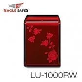【Eagle Safes韓國】防火保險箱(LU-1000RW酒紅玫瑰)