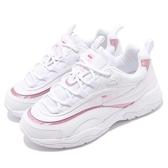 現貨 FILA FILARAY 復古 雙線 老爹鞋 粉色 雷射 炫彩 女鞋 FS1SIA3063X