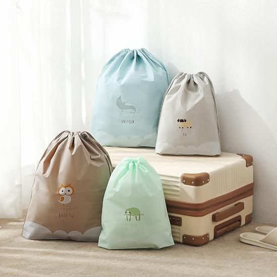 束口袋 密封袋 抽繩袋 整理袋 旅行 鞋袋 行李箱 收納 分類袋 抽繩收納袋(大)【A007】生活家精品