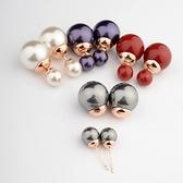 耳環 925純銀珍珠-經典時尚生日情人節禮物女耳針9色73gt1[時尚巴黎]