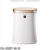 SHARP夏普【FU-G50T-W-D】12坪全新福利品空氣清淨機