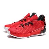ADIDAS 籃球鞋 DAME 7 GCA LILLARD 紅 黑 網布 避震 男 (布魯克林) FZ0206