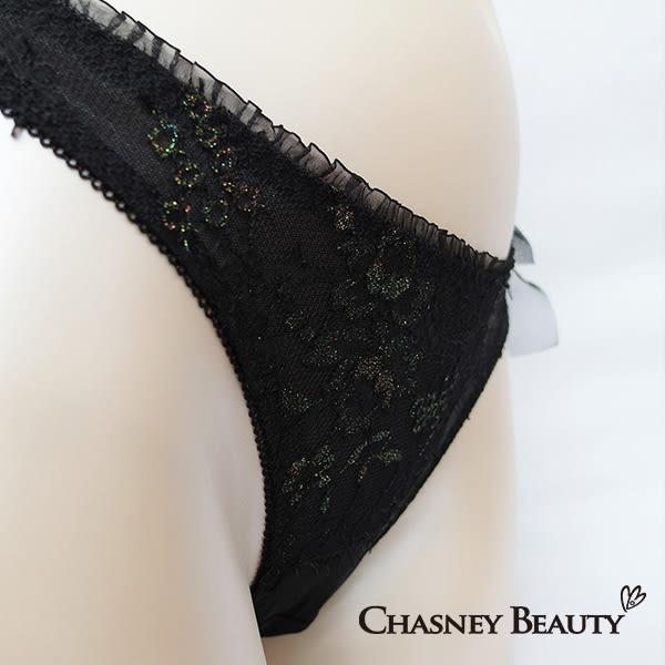 Chasney Beauty-Aerial Music夢幻樂曲S-L丁褲(黑襯金)