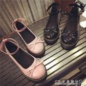 日系娃娃鞋原宿風平底圓頭小皮鞋蝴蝶結女鞋英倫女單鞋『CR水晶鞋坊』