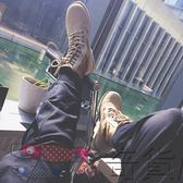 馬丁靴男情侶高幫鞋工裝靴女牛皮作戰靴沙漠靴
