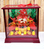 小玻璃Q版元寶甘蔗帶路雞-女方嫁妝用品【皇家結婚用品百貨】