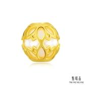 點睛品 Charme文化祝福 陶瓷鏤空蓮花 黃金串珠