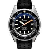 SQUALE 鯊魚錶 1521經典系列機械錶-黑/42mm 1521BKBL.NT
