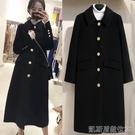 長款外套外套女中長款冬季新款小個子赫本風加厚雙面羊絨大衣 【快速出貨】