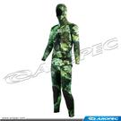 男款3mm迷彩棕打獵潛水連帽上衣+無袖背心長褲   DS-SP-707H-3mmMG/OpenCell     【AROPEC】