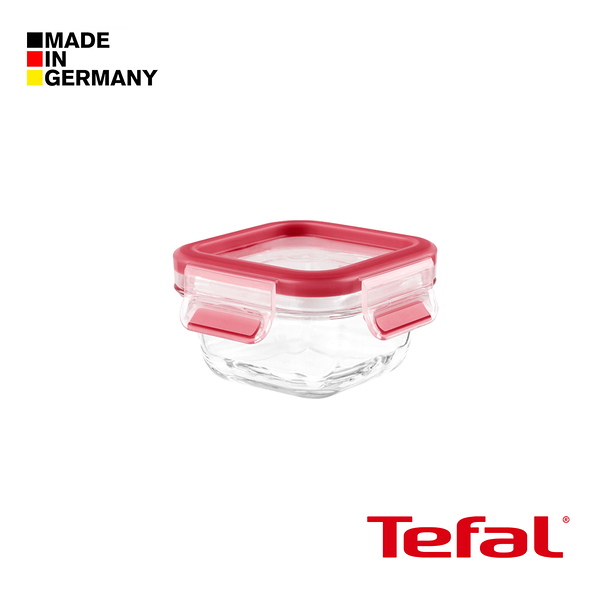 Tefal 特福 德國EMSA原裝- 無縫膠圈3D密封耐熱玻璃保鮮盒(200ML方型)