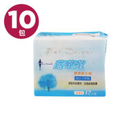 葩蒂蔻 酵素衛生棉-超薄型,24cm (12片/ 10包)【杏一】
