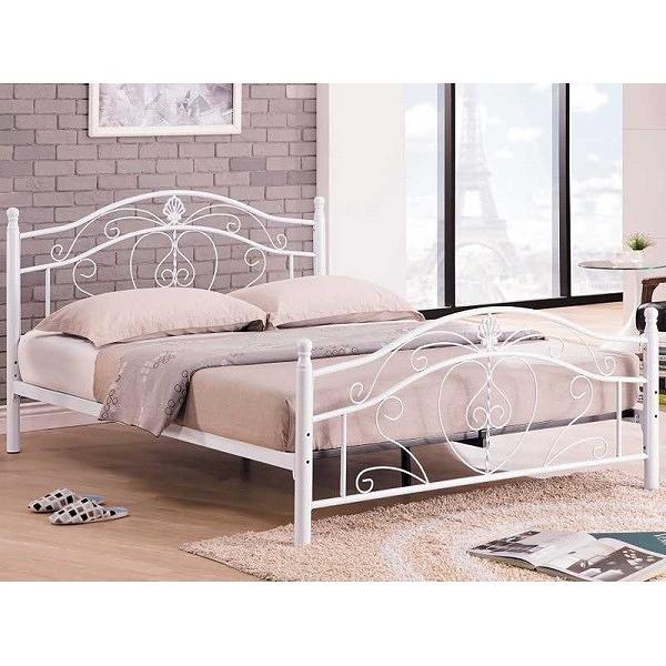 床架 床台 鐵床 TV-181-3 貝兒白色5尺床台 (不含床墊) 【大眾家居舘】