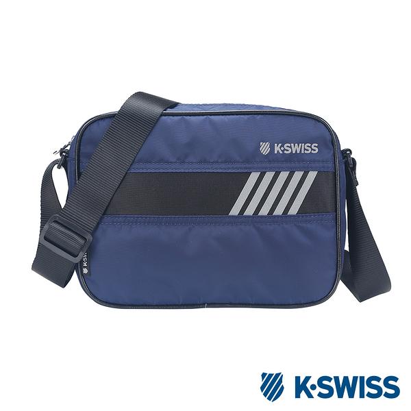 K-SWISS Tw-Shoulder Bag時尚斜背包-藍