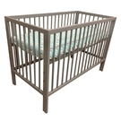 【灰色預計6/10到貨】喬依思 La joie Liz 嬰兒床(附床墊) 灰/白