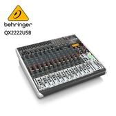 BEHRINGER- QX2222USB專業級小型混音器(8個XENYX麥克風前置放大器和壓縮器)