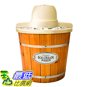 [美國直購] Nostalgia ICMP400WD 復古 木桶造型 冰淇淋機 Vintage Collection 4-Quart Wood Bucket Electric
