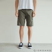 【GIORDANO】男裝工裝風彈力速乾短褲 - 50 葡萄葉綠