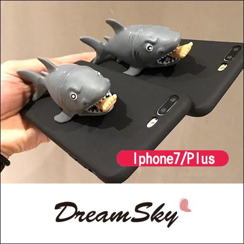 食人鯊 捏捏樂 立體 手機殼  iphone7 iphone7Plus  保護殼 支架 造型 Dreamsky