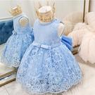 夏季小童嬰兒童裝女童公主裙子蕾絲連衣裙女寶寶夏裝周歲生日禮服