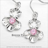 耳環STEVEN YANG正白K飾「貝之閃耀」耳勾式 名媛淑女 兩款任選 *一對價格*