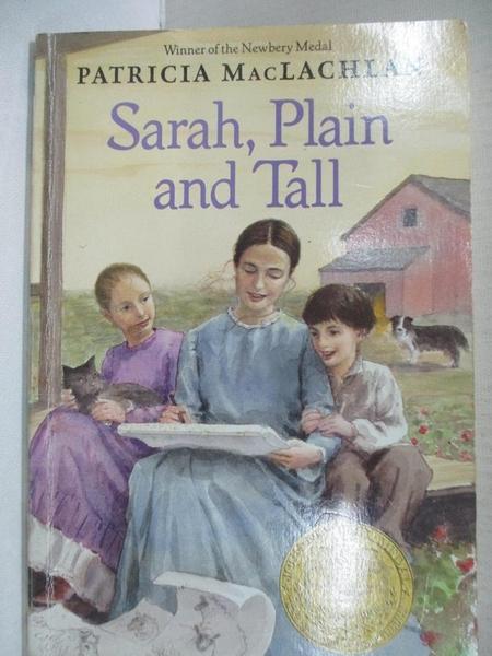 【書寶二手書T1/原文小說_CPU】Sarah, Plain and Tall_MacLachlan, Patricia