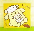 【震撼精品百貨】Pom Pom Purin 布丁狗~雙面卡片-綿羊圖案/橘色底