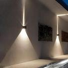 壁燈 戶外防水壁燈庭院燈過道樓梯燈酒店創意外墻led室外簡約露臺壁燈 快速出貨