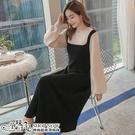 假兩件羅紋小立領可愛澎袖針織孕婦洋裝 三色【CRH503502】孕味十足 孕婦裝