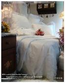 『巴黎玫瑰』(白)-法式典藏.浪漫婚紗系列*╮☆santeen 六件式專櫃高級床罩組(6*6.2尺)VIP獨享會員