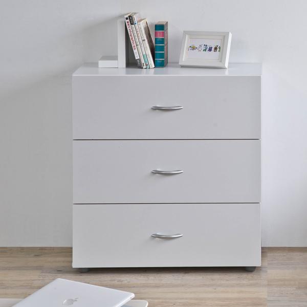 斗櫃 收納【收納屋】 雪白三抽斗櫃&DIY組合傢俱