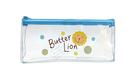 【雄獅】PBC03 奶油獅透明筆袋 (紅、藍兩款)
