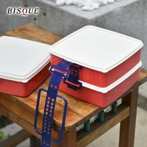 【日本BISQUE】3層野餐便當盒-S紅
