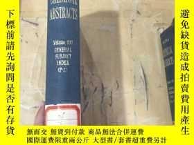 二手書博民逛書店Chemical罕見Abstracts.Volume107.Ge