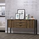工業風/多功能兩門三抽收納櫃/邊櫃/置物櫃-DIY組合產品