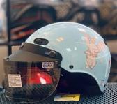 卡通安全帽,CA110,小飛象/藍,附抗UV-PC安全鏡片