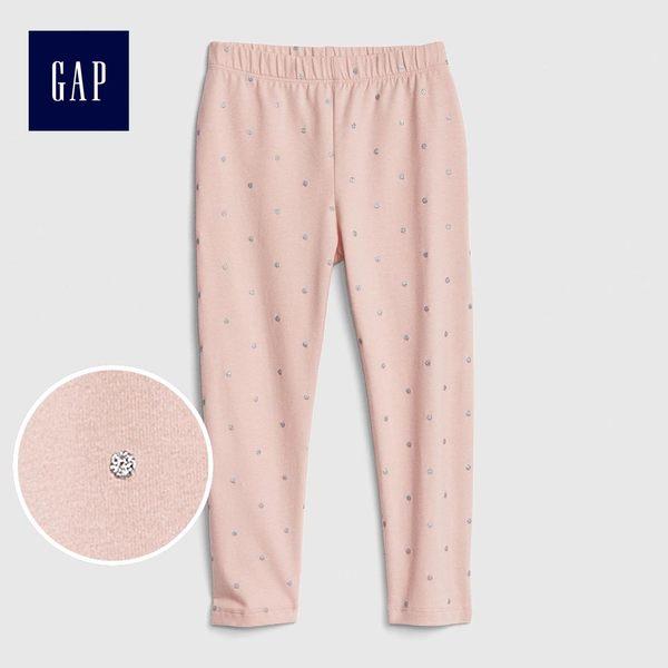 Gap女嬰幼童 印花彈力針織打底褲 436157-嫩粉色波點