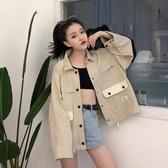 bf牛仔外套潮原宿風女學生韓版工裝夾克2020春秋新款寬鬆棒球服秋