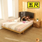 床架《百嘉美》拼接木紋系列雙人5尺日式房間組2件組/床頭+日式床底 BE020-5