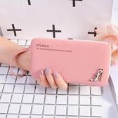 零錢包 2019新款女生錢包長款多功能可愛時尚正韓個性手機信用卡包鑰匙包