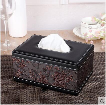 紙巾盒抽紙盒皮質紙巾收納盒車用紙巾抽PLL2086