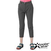PolarStar 女 彈性合身九分褲『炭灰』P21302 戶外 休閒 登山 露營 運動褲 釣魚褲