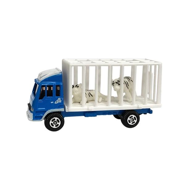 A&L奧麗迷你合金車 NO.76 動物搬運車-老虎 滑行車 運送車 運輸車 工程模型車(1:64)【楚崴玩具】