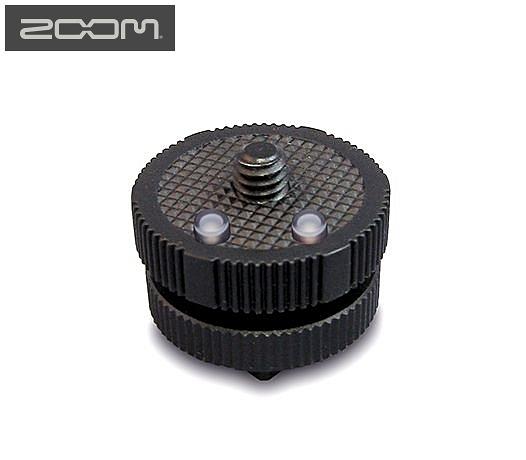 又敗家@日本ZOOM熱靴轉接座HS-1將Hot Shoe熱靴座轉1/4 螺絲1/4吋螺絲公螺牙裝指向麥克風MIC液晶顯示器